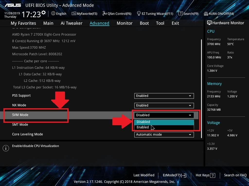 كيفية تمكين المحاكاة الافتراضية (VT) على الكمبيوتر المكتبية والكمبيوتر المحمول من ASUS