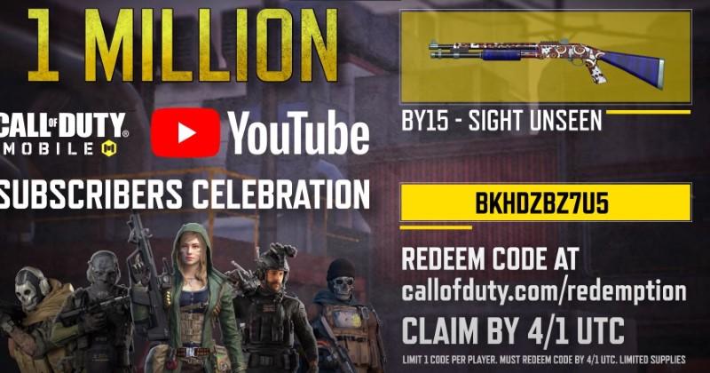Call of Duty: 1 Million Free Redeem Code