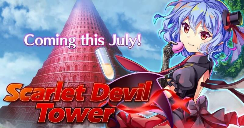 Touhou LostWord 2021.06.18 Updates and New Content Scarlet Devil Tower Guide
