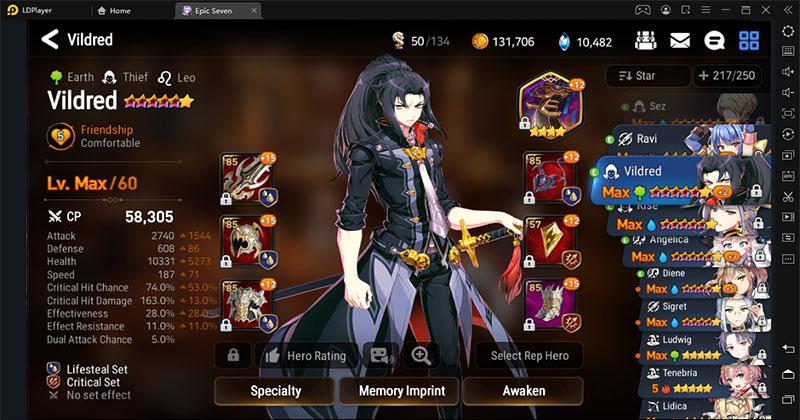 Epic Seven, the best character Luna or Vildred?