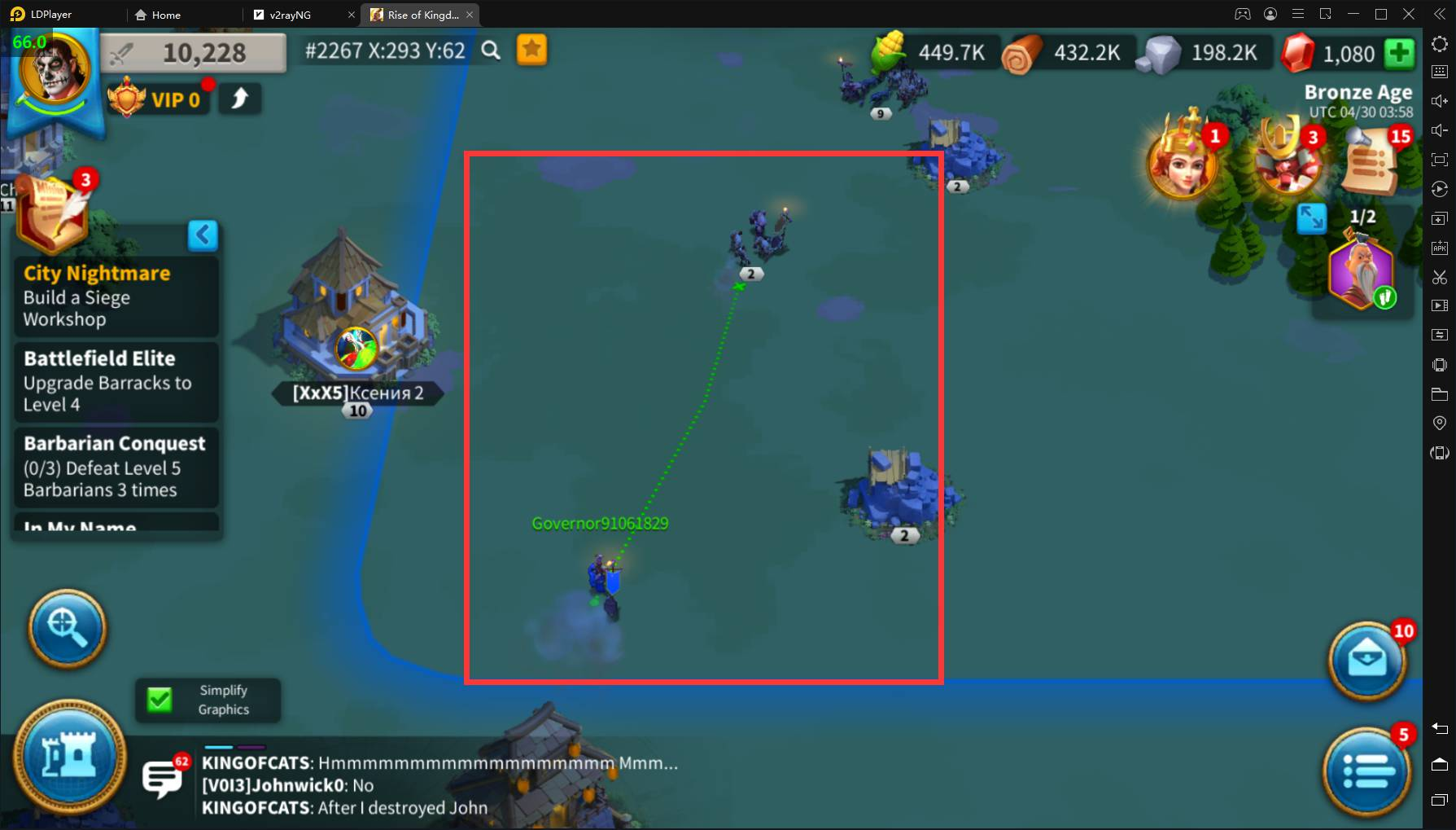 How to enhance perforamce of Rise of Kingdoms on PC with LDPlayer