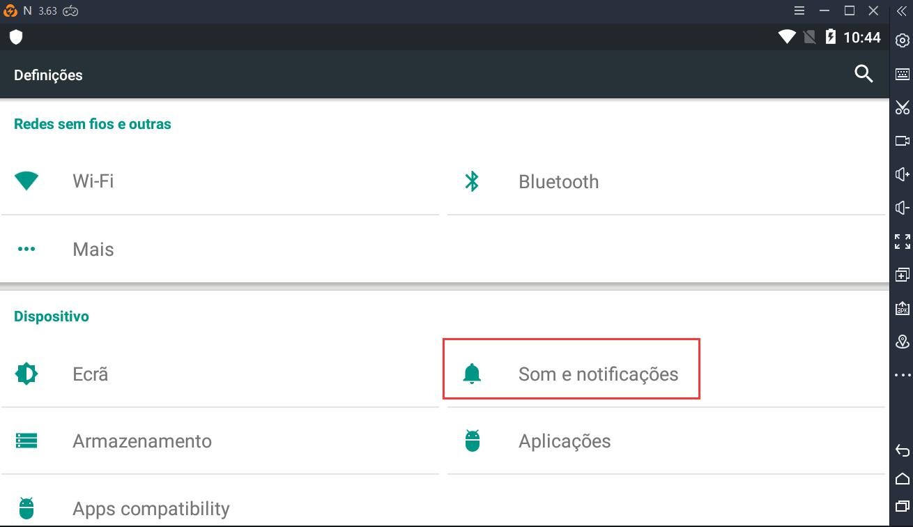 Desativar notificações no seu LDPlayer para reduzir o uso da CPU