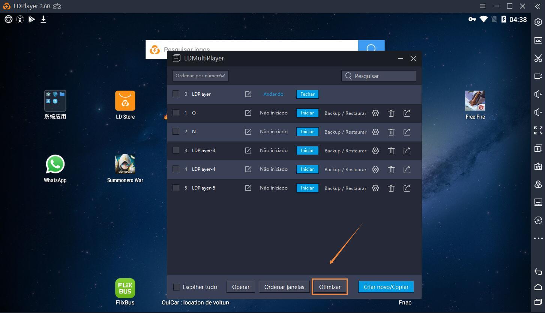 Jogar jogos a maior taxa de quadros por segundo(FPS) em LDPlayer