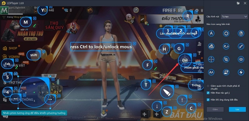 Hướng dẫn chơi Free Fire ở FPS cao