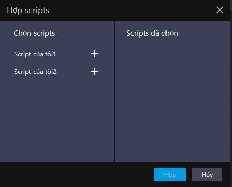 [Ghi lại thao tác] Các thao tác có thể đạt được bằng cách kết hợp các script   Mẹo thiết lập